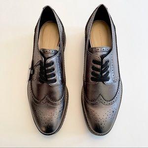 NWT Zara Metallic Blucher Leather Shoes